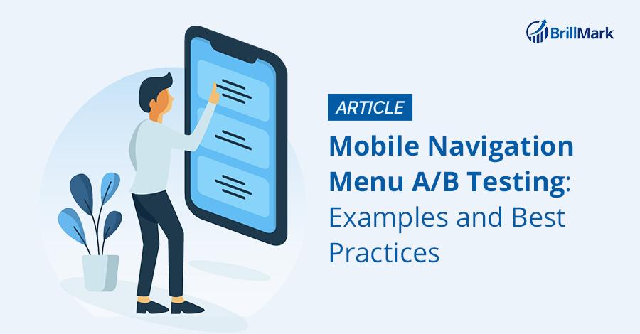 Mobile Navigation Menu AB Test - BrillMark